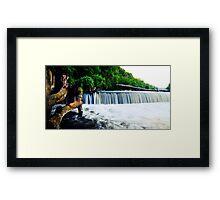 Steamboat Dam Panoramic Framed Print