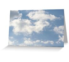 Fluffy Clouds in the Sky Greeting Card