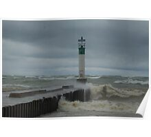 Troubled waters,Lake Huron, Ont. Poster