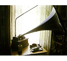 Phonograph Photographic Print