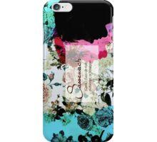 Sassanach floral design teal 2 iPhone Case/Skin
