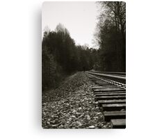 Walking on a track Canvas Print