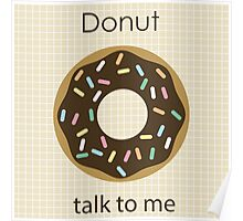 Donut talk to me Poster