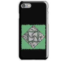 Paradox Tile on Green iPhone Case/Skin