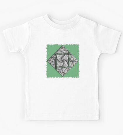 Paradox Tile on Green Kids Tee