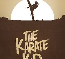 KARATE KID - Minimal Silhouette Poster Design by doughballdesign