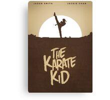 KARATE KID - Minimal Silhouette Poster Design Canvas Print