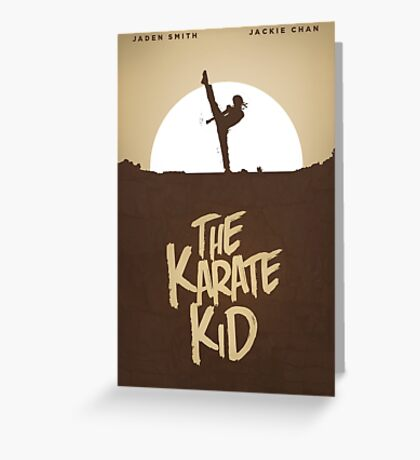 KARATE KID - Minimal Silhouette Poster Design Greeting Card