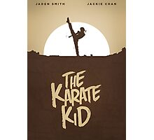 KARATE KID - Minimal Silhouette Poster Design Photographic Print