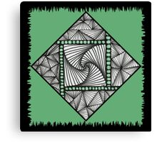 Paradox Tile on Green Canvas Print