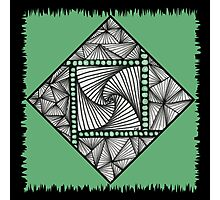 Paradox Tile on Green Photographic Print