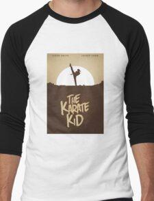 KARATE KID - Minimal Silhouette Poster Design Men's Baseball ¾ T-Shirt