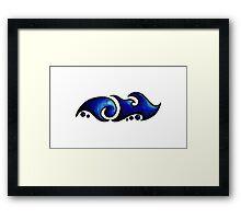 Jamie /  جيامي  (blue) Framed Print