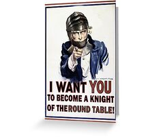 Uncle Sam- The Round Table Greeting Card