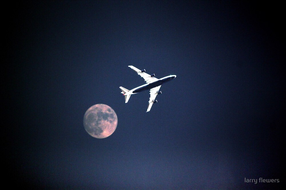the Moon and speed bird  by larry flewers