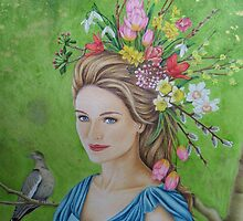 Spring flowers in her hair by lanadi