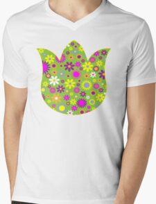 Flower Whimsy Mens V-Neck T-Shirt