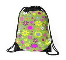 Flower Whimsy Drawstring Bag