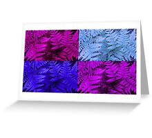 Shades of Blue and Purple Fern Greeting Card