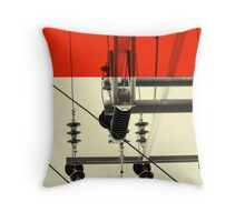 The Red Horizon Throw Pillow