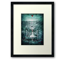 love watches over me Framed Print