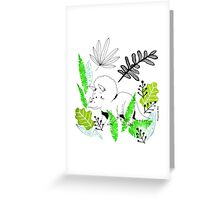 Triceratops, the best dinosaur Greeting Card