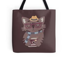Hipster Cat Vector Design Tote Bag