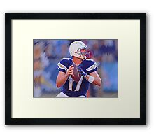 Philip Rivers San Diego Chargers Framed Print