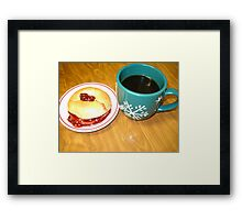 Coffee-N- Bagel With Strawberry Preserve Framed Print