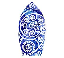 Watercolor Surfboard Photographic Print