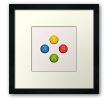 Xbox Controller Buttons Framed Print