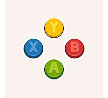 Xbox Controller Buttons Photographic Print