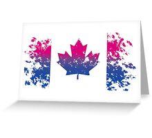 Canadian Flag- Bisexual Pride Greeting Card