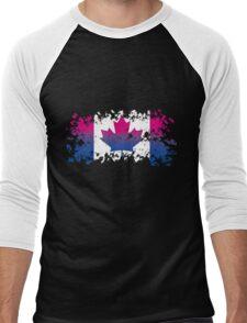 Canadian Flag- Bisexual Pride Men's Baseball ¾ T-Shirt