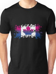 Canadian Flag- Bisexual Pride Unisex T-Shirt