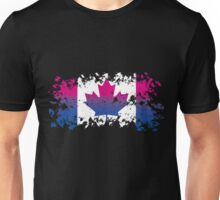Canadian Flag- Bisexual Pride Unisex T-Shirt