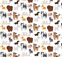 Dog Breeds Pattern by Claire Stamper
