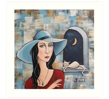 Lady Catrina Art Print
