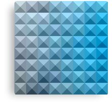 Bright Cerulean Blue Abstract Low Polygon Background Canvas Print