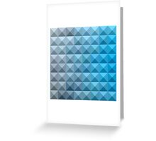 Bright Cerulean Blue Abstract Low Polygon Background Greeting Card