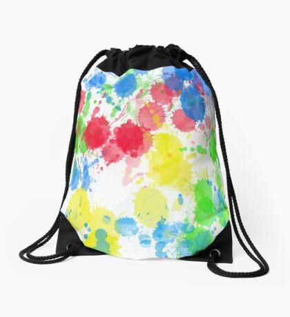 Abstract Splatter Drawstring Bag