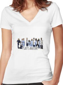 Grey's Anatomy Women's Fitted V-Neck T-Shirt