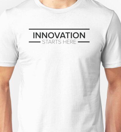 Innovation Starts Here Design - White Unisex T-Shirt