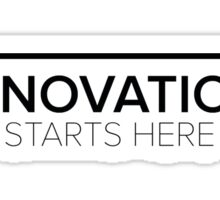Innovation Starts Here Design - White Sticker