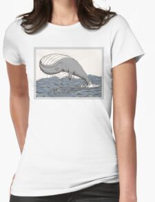 Whale of a Day Womens Fitted T-Shirt