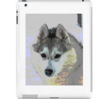 Retro Husky  iPad Case/Skin