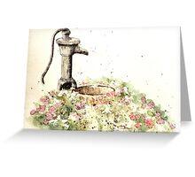 The garden, where Peace and Calm flourish Greeting Card