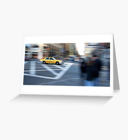 Taxi Cab New York Greeting Card