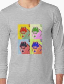 Retro Husky  Long Sleeve T-Shirt