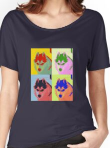 Retro Husky  Women's Relaxed Fit T-Shirt